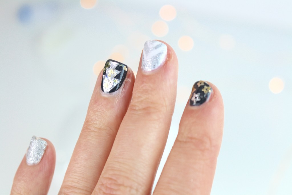 nail art Noël christmas argent silver